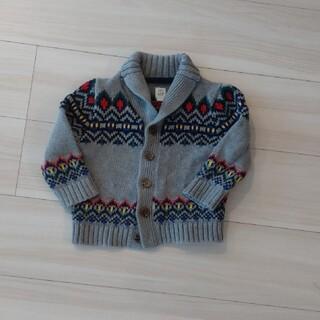 ベビーギャップ(babyGAP)のbabygap 子供服カウチンセーター 90cm 美品(ニット)