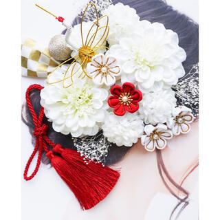ハンドメイド 成人式 振袖 卒業式 袴 結婚式 前撮り 髪飾り 謝恩会つまみ細工