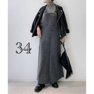 L'Appartement DEUXIEME CLASSE - アパルトモン【ユニオンランチ】ヘリンボーンツイードオーバーオールフレアスカート