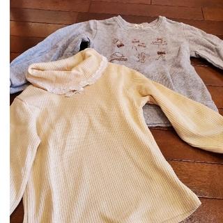axes femme - 120サイズ サアクシーズファム 女の子 秋冬 セーター トレーナー 長袖 2着