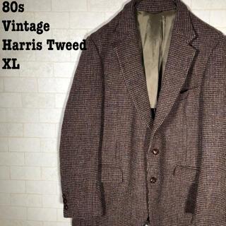 ハリスツイード(Harris Tweed)の80s ヴィンテージ レトロ ブリティッシュ ハリスツイード ジャケット(テーラードジャケット)