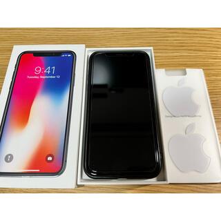 Apple - iPhone X 64GB スペースグレイ美品バッテリー交換済みおまけ付き