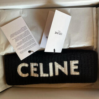 celine - 【黒フリー】セリーヌ 新品未使用 タグ付き セリーヌロゴ ヘアバンド ブラック