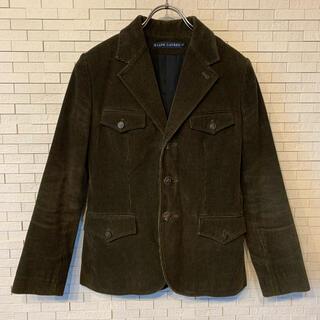 ラルフローレン(Ralph Lauren)のラルフローレン コーデュロイテーラードジャケット カーキ アニマルボタン 11号(テーラードジャケット)