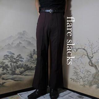 Azuki flare pants センタープレス