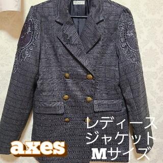 アクシーズファム(axes femme)のジャケット レディース Mサイズ アクシーズファム 格子 チェック柄 ビジネス (テーラードジャケット)