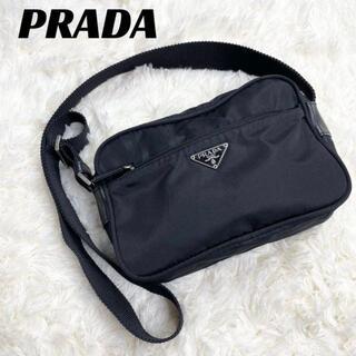 PRADA - 【美品】PRADA プラダ ショルダーバッグ 斜め掛け ナイロン ブラック 黒.