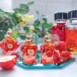 季節香水瓶 No.54 【りんご】ミニ香水瓶 香水瓶ネックレス メモリーオイル入
