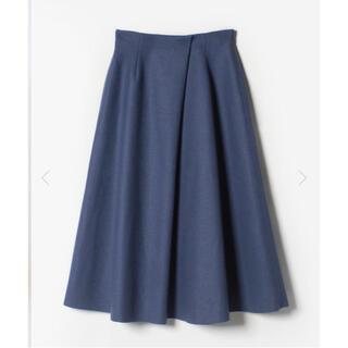 アナイ(ANAYI)のアルアバイル ウール天竺フレアースカート 未使用 ブルー サイズ1(ひざ丈スカート)