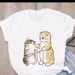 可愛い猫ちゃん レディースtシャツ