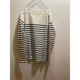 ムジルシリョウヒン(MUJI (無印良品))の美品!無印良品 マリンボーダー バスクTシャツ M(Tシャツ/カットソー(七分/長袖))