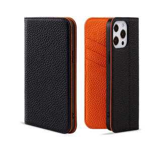 iphone13 Pro ケース 手帳型 本革 レザーケース スタンド機能付き(iPhoneケース)
