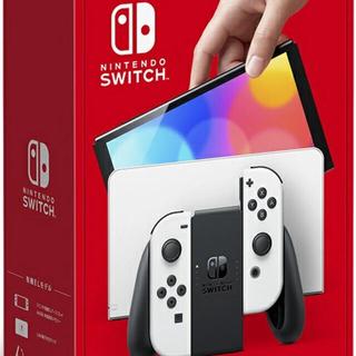 ニンテンドウ(任天堂)のNintendo Switch 新型 有機 elモデル ホワイト (家庭用ゲーム機本体)