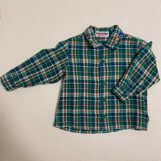 ミキハウス(mikihouse)のミキハウス チェックシャツ 美品 80(シャツ/カットソー)