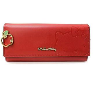 ハローキティ(ハローキティ)のハローキティ レザーかぶせ折り財布 レッド ワレット ウォレット(財布)