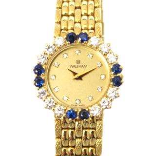 Waltham - ウォルサム レディース K18YG  サファイア ダイヤ ハイブランド 腕時計