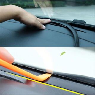 フロントガラス振動音低減モール 取付簡単シーリングモール 不快なビビリ音対策