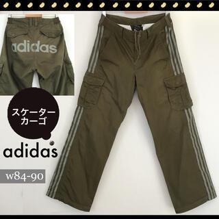 adidas - アディダス★スケーター カーゴパンツ★ブラウンツイル★3ライン★w84〜90cm