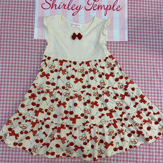 Shirley Temple - シャーリーテンプル チェリーリボン ワンピース 120