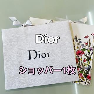 クリスチャンディオール(Christian Dior)のディオール ショッパー  リボン付き 1枚【無地】(ショップ袋)
