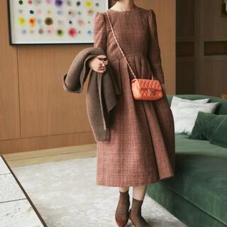 チェスティ(Chesty)のseventen bymihokawahito ツイードタックドレス(ロングワンピース/マキシワンピース)