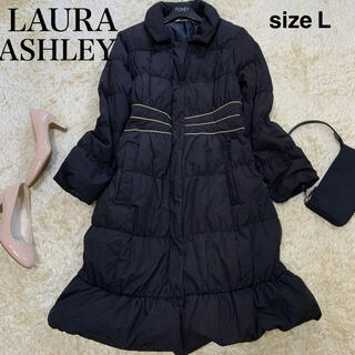 LAURA ASHLEY - 【Lサイズ】ローラアシュレイ ブラック ダウンコート フェザー混