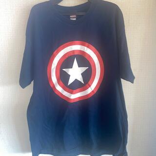 マーベル(MARVEL)のUSA輸入古着 マーベル キャプテンアメリカ 定番 人気 Tシャツ(Tシャツ/カットソー(半袖/袖なし))
