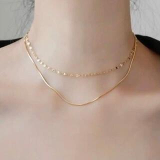 ❤︎ 18KGP ❤︎ キラキラ輝く、華奢な二重ネックレス