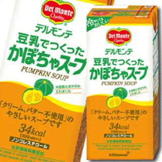 キッコーマン(キッコーマン)のデルモンテ 豆乳でつくったかぼちゃスープ1L紙パック×1ケース(全6本)(豆腐/豆製品)