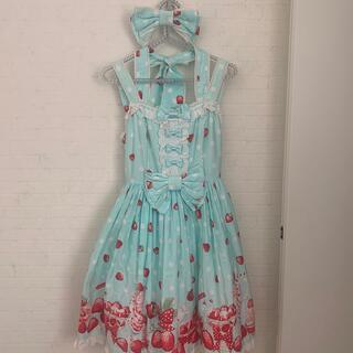 Angelic Pretty - アンジェリックプリティ Milky berry いちご ジャンパースカート