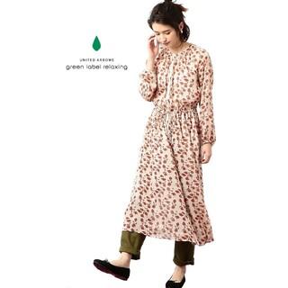 グリーンレーベルリラクシング(green label relaxing)の【green label relaxing】 花柄 ワンピース(ロングワンピース/マキシワンピース)