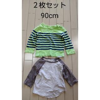 ベビーギャップ(babyGAP)の長袖Tシャツ 2枚セット babyGAP(Tシャツ/カットソー)