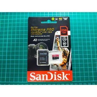 サンディスク(SanDisk)のmicroSD 256GB サンディスクextreme pro 最上級 未開封(その他)