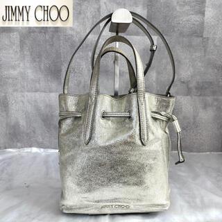 JIMMY CHOO - 【JIMMY CHOO】BARRA 定価12万 ミニ トートバッグ ガンメタル