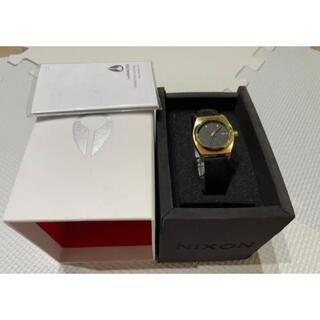 ニクソン(NIXON)の未使用タグ付き正規品 ニクソンNIXON 腕時計スモール タイムテラーレザー黒金(腕時計)