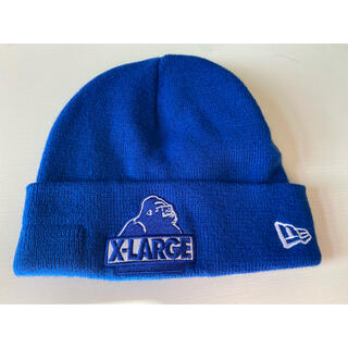 ニューエラー(NEW ERA)のNEW ERA × XLARGE ニット帽 Blue(ニット帽/ビーニー)