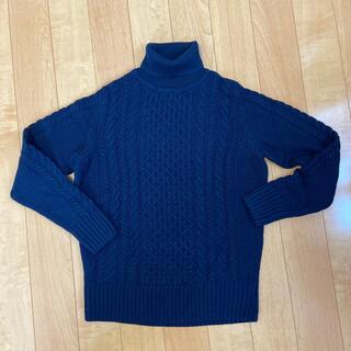 ムジルシリョウヒン(MUJI (無印良品))の無印良品 タートルセーター 紺色(ニット/セーター)