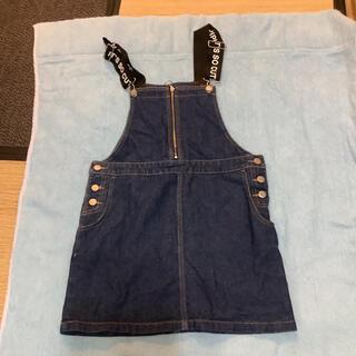 レピピアルマリオ(repipi armario)のデニム サロペット ジャンパースカート レピピアルマリオ 150 スカート(スカート)
