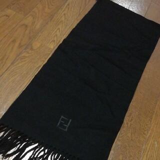 フェンディ(FENDI)の27 A 美品 フェンディ FENDI マフラー 黒(マフラー/ショール)