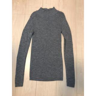 ムジルシリョウヒン(MUJI (無印良品))の無印良品 ハイネック洗えるセーター レディースSサイズ グレー(ニット/セーター)