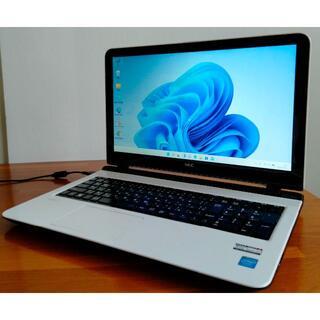 エヌイーシー(NEC)の美品Win11 LAVIE/3205U/8G/500G/DVD/WLAN/カメラ(ノートPC)