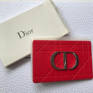 Dior - ディオール Dior ミラー 鏡 ノベルティ 非売品 レッド 手鏡 ロゴ 新品