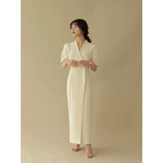 L'or pencil wrap onepiece(ロングワンピース/マキシワンピース)
