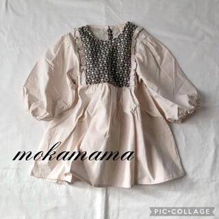 ザラキッズ(ZARA KIDS)の新品◆ 韓国子供服 刺繍ワンピース ワンピース フリル バルーンスリーブ 秋服(ワンピース)