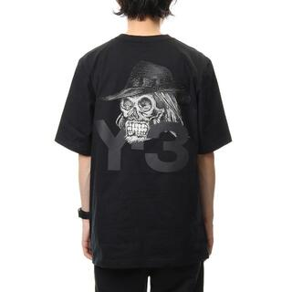 Yohji Yamamoto - 新品 ヨウジヤマモト Y-3 ロゴ スカル刺繍 Tシャツ L XL