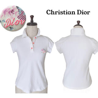 クリスチャンディオール(Christian Dior)のChristian Dior ブランドバッチ付き ポロシャツ(360)(ポロシャツ)