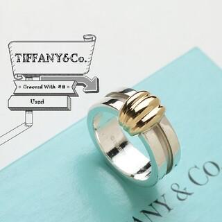 ティファニー(Tiffany & Co.)のむーこ様専用☆ ティファニー グルーブド ウィズ コンビ リング 指輪 11号(リング(指輪))