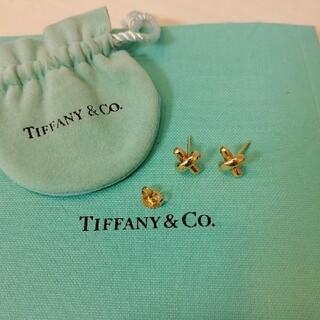 Tiffany & Co. - ティファニー クロスステッチ ピアス ゴールド シグネチャー k18