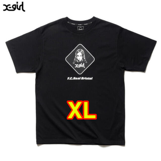 F.C.R.B. - FCRB × X-GIRL コラボTシャツ XL BLACK 黒