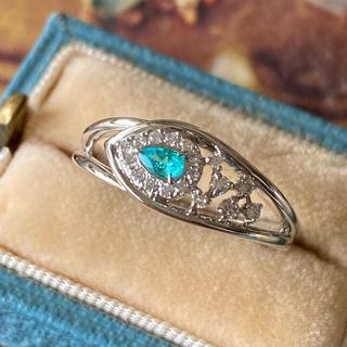 天然パライバトルマリン 天然ダイヤモンド ソーティング付き エレクトリックブルー